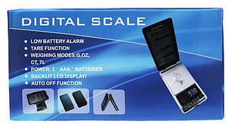 Ювелірні ваги 200г 6*12*1.5 DIGITAL SCALE (синя коробка)