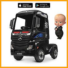 Электромобиль детский грузовик Bambi Mерседес M 4208EBLR-2  кож.сид EVA муз свет MP3 USB черный