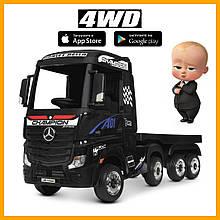 Двухместный детский электромобиль грузовик с прицепом Mercedes-Benz M 4208EBLR-2(2)