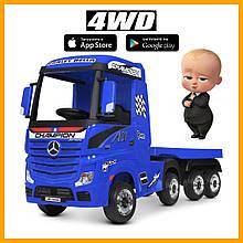 Электромобиль детский грузовик Bambi Mерседес Mercedes тягач с прицепом M 4208EBLR-4(2) синий