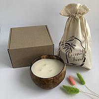 """Ароматические декоративные свечи для дома Coconut Home """" Персик """" в подарочной упаковке"""
