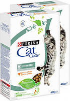 Упаковка сухого корма для кошек Purina Cat Chow Sterilised с курицей 400 г , фото 1