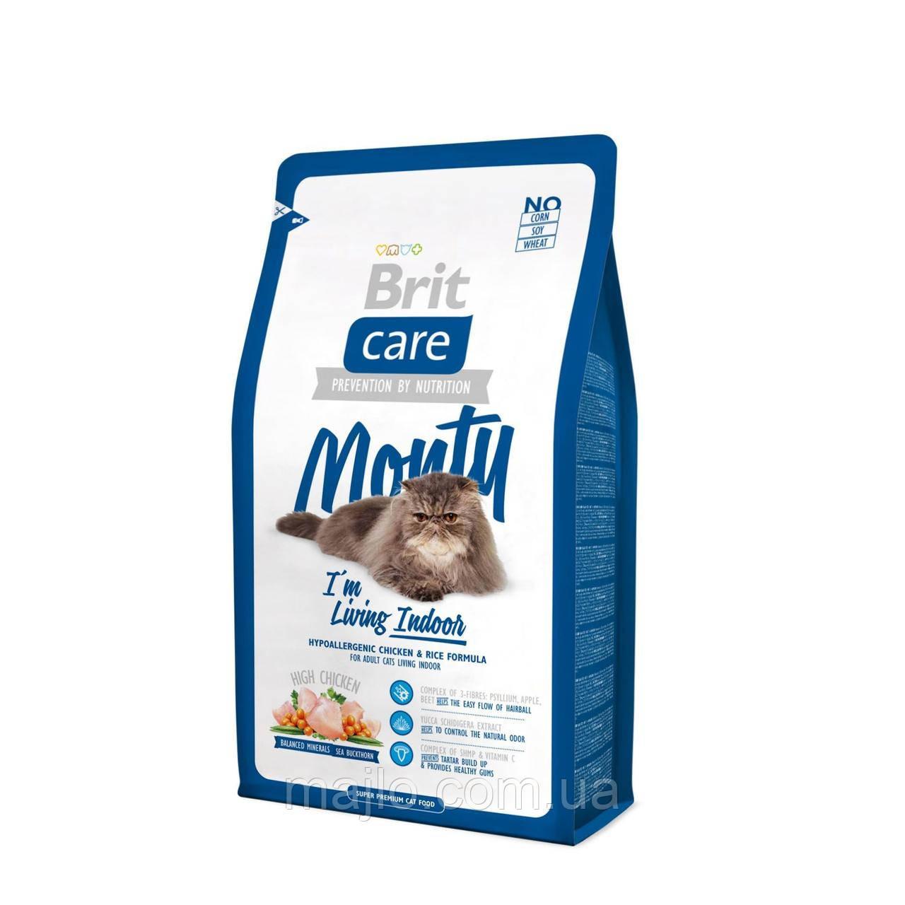 Сухий корм Brit Care Cat Monty Indoor Брит Кеа для домашніх кішок, 400 р, 132611