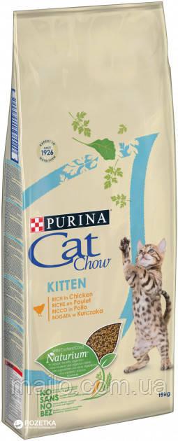 Сухой корм для котят Purina Cat Chow Kitten с курицей 15 кг