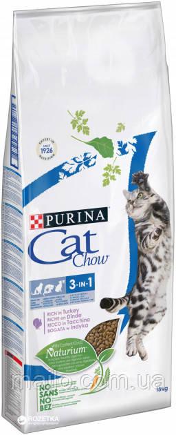 Сухий корм для кішок Purina Cat Chow Feline з індичкою 15 кг