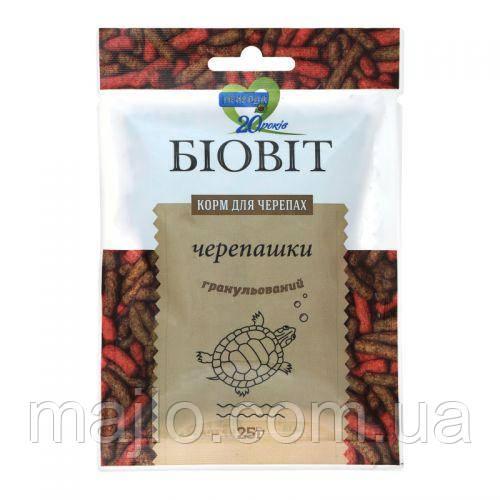 Корм для черепах ТМ Природа, Біовіт Черепашки, гранульований 25г. арт.PR240470