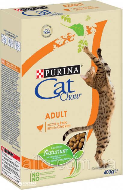 Сухий корм для кішок Purina Cat Chow Adult з куркою та індичкою 400 г