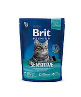 Сухой корм Brit Premium Cat Sensitive Брит Премиум гипоаллергенный для кошек с чувствительным пищеварением