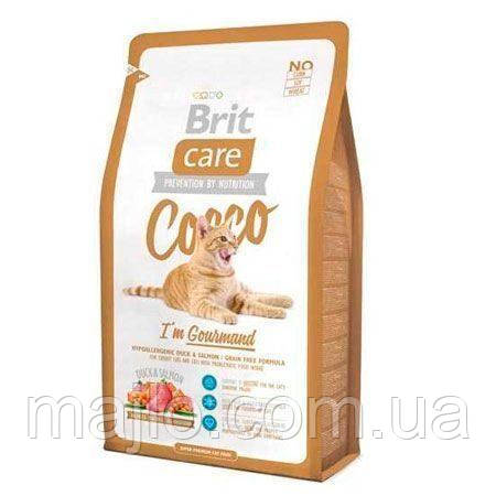 Сухой корм Brit Care Cat Cocco Gourmand Брит Кеа беззерновой для кошек-гурманов 7 кг, 132627