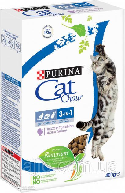 Сухой корм для кошек Purina Cat Chow Feline с индейкой 400 г