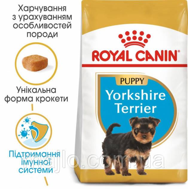 Сухой корм Royal Canin Yorkshire Terrier Puppy для щенков до 10 месяцев 1,5 кг
