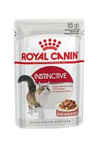 Упаковка вологого корму Royal Canin Instinctive In Gravy в соусі для котів від 1 року 85 г