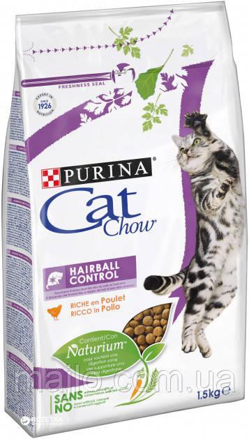 Сухий корм для кішок Purina Cat Chow Hairball з куркою 1.5 кг