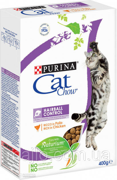 Сухий корм для кішок Purina Cat Chow Hairball з куркою 400 г