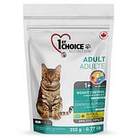 Сухий корм для дорослих котів 1st Choice Adult Weight Control зі смаком курки 0.35 кг