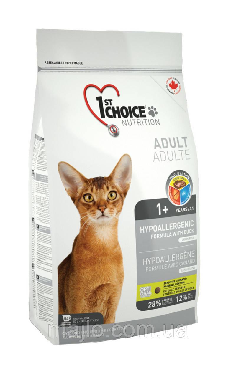 Сухий корм для дорослих котів 1st Choice Adult гіпоалергенний зі смаком качки і картоплі 0.35 кг