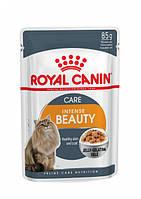Упаковка вологого корму Royal Canin Intense Beauty In Jelly в желе для котів 12 шт по 85 г, фото 1