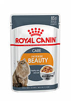 Упаковка влажного корма Royal Canin Intense Beauty In Jelly в желе для котов 12 шт по 85 г