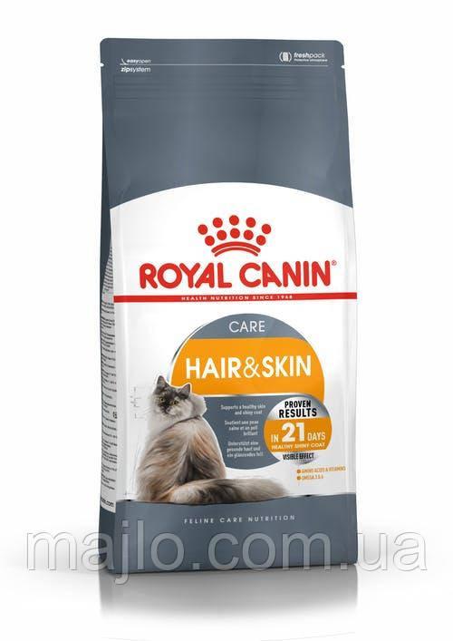Сухий корм Royal Canin Hair & Skin Care для котів від 1 до 7 років для турботи про шкіру і вовни 400 г