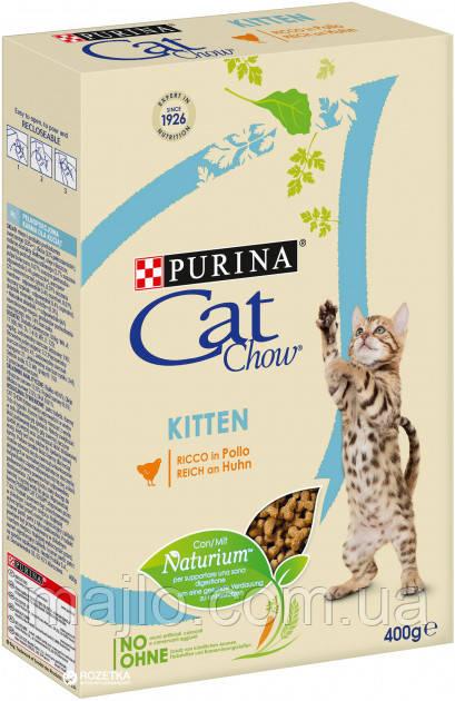 Сухой корм для котят Purina Cat Chow Kitten с курицей 400 г