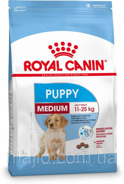 Сухий корм Royal Canin Medium Puppy для щенят середніх порід до 12 місяців 1 кг