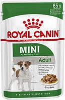 Влажный корм Royal Canin Mini Adult для взрослых собак мелких размеров в возрасте с 10 месяцев до 8 лет 0.085