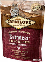 Carnilove Cat Energy & Outdoor 0.4kg северный олень (для активных)
