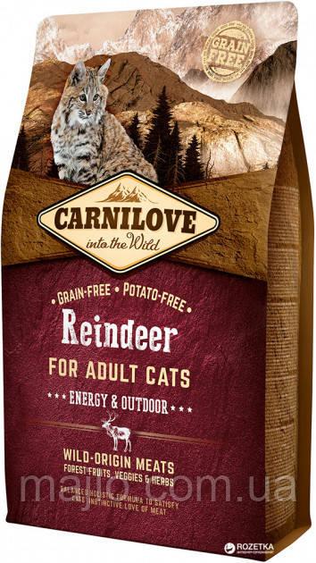 Carnilove Cat Energy & Outdoor 2 kg північний олень (для активних)