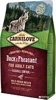 Carnilove Cat Hairball Control 2 кг качка, фазан (Для виведення вовняних грудочок) (8595602512348)