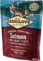 Carnilove Cat Sensetive & Long Hair 0.4kg лосось (д/ кошек с чуствительным пищеварением)  (8595602512294)