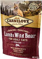 Carnilove Cat Sterilised 0.4kg ягненок, дикий кабан (д/ стерилизованых) (8595602512324)