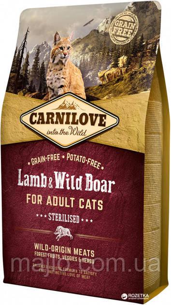 Carnilove Cat Sterilised 2 kg ягня, дикий кабан (д/ стерилизованых ) (8595602512317)
