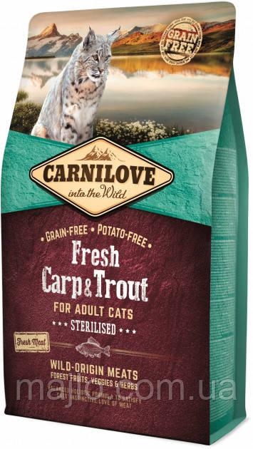 Carnilove Fresh Carp & Trout Sterilised for Adult cats 2 kg короп, форель для стерилизованых котів