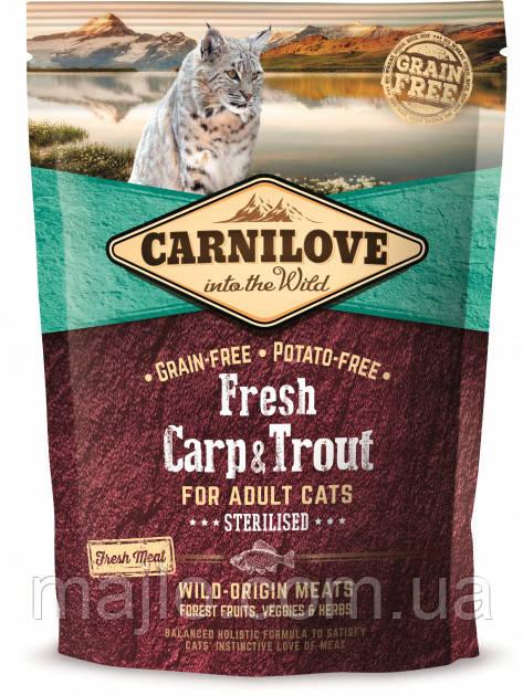 Carnilove Fresh Carp & Trout Sterilised for Adult cats 0,4 kg карп, форель для стерилизованых котов