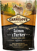 Carnilove Adult Large Breed Salmon & Turkey 1.5 kg (д\взрослых собак крупных пород) (8595602508952)