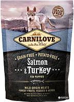 Carnilove Puppy Salmon & Turkey 1.5kg (д\щенков индейка, лосось  (8595602508839)