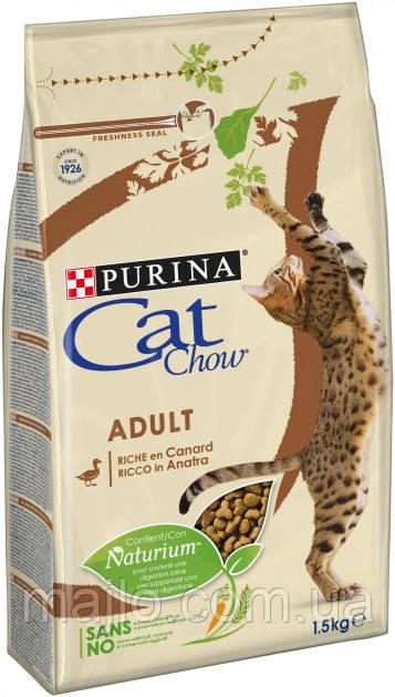 Сухой корм для кошек Purina Cat Chow Adult с уткой 1.5 кг