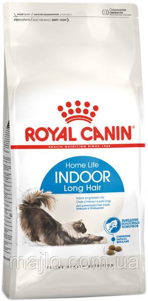 Сухий корм Royal Canin Indoor Long Hair для длинношерстных котов от 1 до 7 лет живущих в помещении 400 г