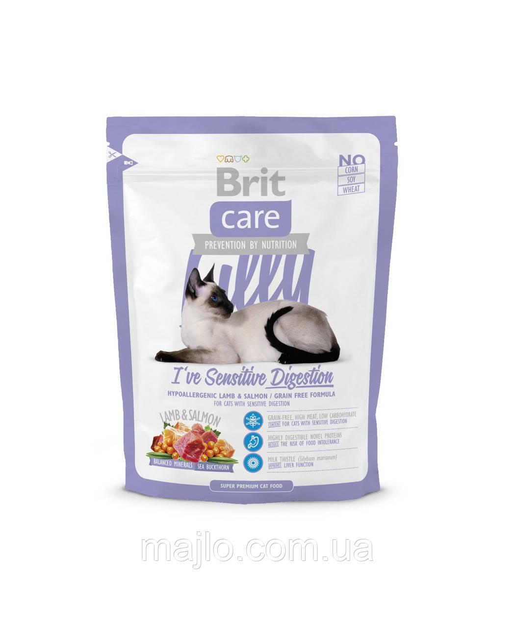 Сухий корм Brit Care Cat Lilly Sensitive Digestion Брит Кеа беззерновой для кішок з чутливим