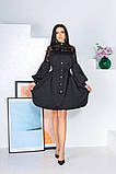 Свободное платье с гипюровыми вставками 50-502, фото 9