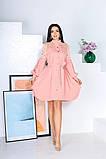 Свободное платье с гипюровыми вставками 50-502, фото 5