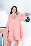Свободное платье с гипюровыми вставками 50-502, фото 2