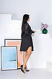 Свободное платье с гипюровыми вставками 50-502, фото 6
