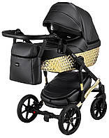 Детская коляска 2 в 1 Bair Star (Gold) кожа 100% 28G, фото 1