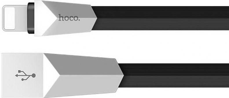 Кабель USB Lightning Hoco X4 Zinc Alloy Rhombic 1.2m Black