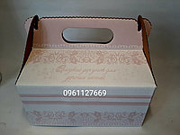 Картонна коробка на торт, коровай, пляцки, солодощі