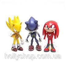 Набір фігурок Super Sonic Їжачок Соник і його друзі Перше покоління, фото 2