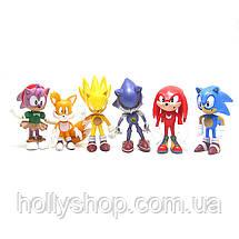 Набір фігурок Super Sonic Їжачок Соник і його друзі Перше покоління, фото 3