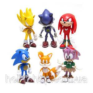 Набір фігурок Super Sonic Їжачок Соник і його друзі Перше покоління