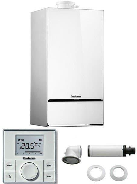 Котел газовий конденсаційний Buderus GB172i-14K - двоконтурний Logamax plus (білий)